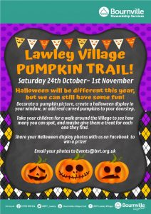 Lawley village halloween pumpkin trail poster